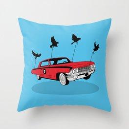 Four Wheel Fly Throw Pillow