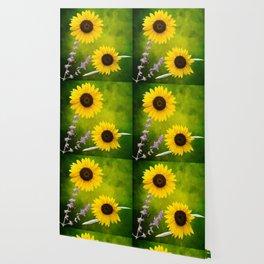 Sunflowers. Wallpaper