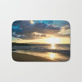 Poolenalena Beach Sunset Makena Maui Hawaii Bath Mat