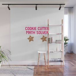Cookie Math Solver Funny Christmas Teacher Wall Mural
