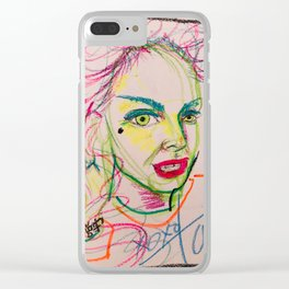 self portrait in lime (tara savelo) Clear iPhone Case