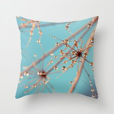 Queen Anne's Lace in Blue Throw Pillow
