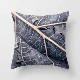 Organic Winter Decay Throw Pillow
