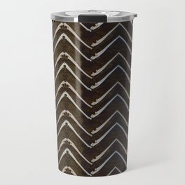 Bone Chevron Travel Mug