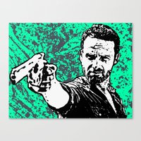 rick grimes Canvas Prints featuring Rick Grimes by Blake Lee Ferguson