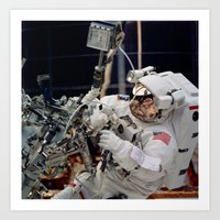 nasa Art Prints featuring NASA - Astronaut by Planet Prints