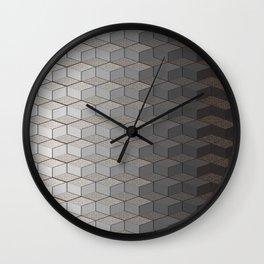 Pattern #6 Greyscale Wall Clock