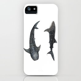 Whale sharks iPhone Case