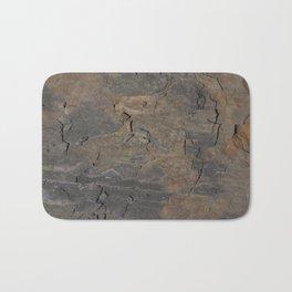 CLOSEUPS -  structure of shale plate  Bath Mat