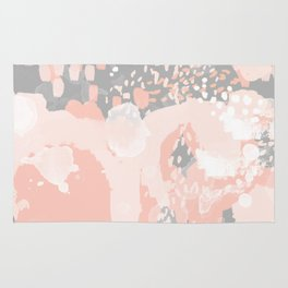 Penelope - abstract millenium pink and grey painting large canvas art decor Rug