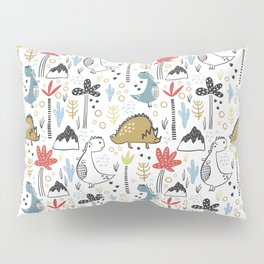 Dinosaurs Animals Prints patterns Pillow Sham