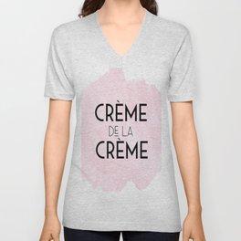 CREME DE La CREME,French Quote,Printable Wall Art,Crème De La Crème Print,Quote Posters Unisex V-Neck