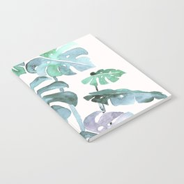 Delicate Monstera Blue And Green #society6 Notebook