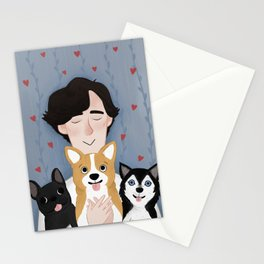 Sherlock Holmes loves pups Stationery Cards