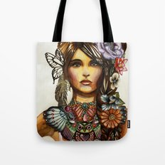Owl Necklace Tote Bag