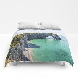 The cliffs of Etretat Comforters