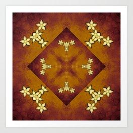 Mandala in copper and gold Art Print