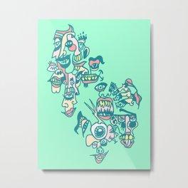 Screaming Eyeball Metal Print