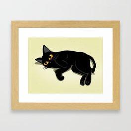 Lying down Framed Art Print