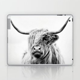 portrait of a highland cow - vertical orientation Laptop & iPad Skin