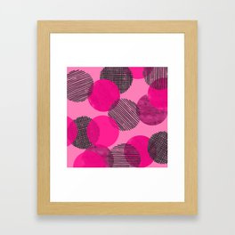 Magenta Dot Pattern Framed Art Print