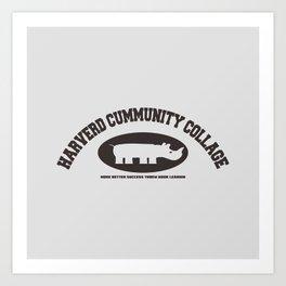 Harverd Cummunity Collage Art Print