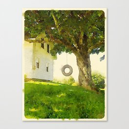 Tire Swing Canvas Print