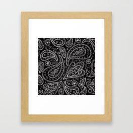 Classic Black and White Paisley Framed Art Print