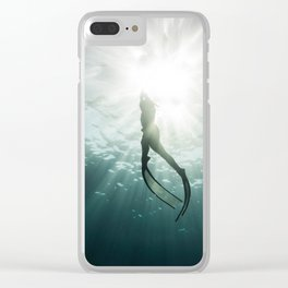 Free to Dive Clear iPhone Case