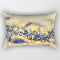 Ice Canyon in Purple and Gold Rectangular Pillow