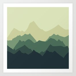 More Mountains please Art Print