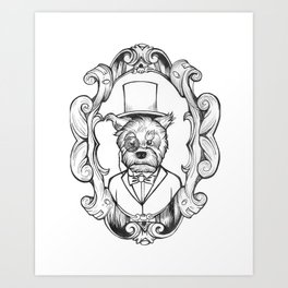 Gilles the dapper Schnauzer Art Print