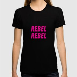 Grey star #REBEL REBEL T-shirt