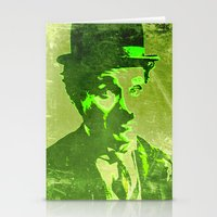 charlie chaplin Stationery Cards featuring Charlie Chaplin by Pedro Nogueira