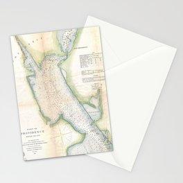 Vintage Port of Providence Rhode Island Map (1865) Stationery Cards