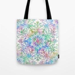 Nature Mandala in Rainbow Hues Tote Bag