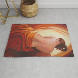 Female Nude in the Light Rug