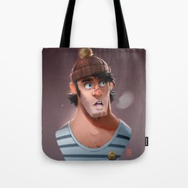 Random Faces #004 // Guy Tote Bag
