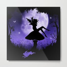fairy in the moonlight Metal Print