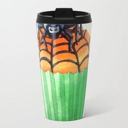 Halloween Cupcake with Spider Decoration Travel Mug