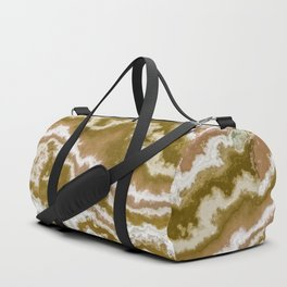 Green and toasted sienna marbling texture Duffle Bag