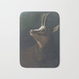 Karl Wilhelm Diefenbach - Head of a Chamois (Goat-Antelope) (1895) Bath Mat