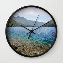 Crescent Lake Olympic Peninsula Wall Clock