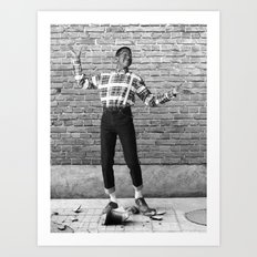 Did I Do That? (Steve Urkel dropping a Han dynasty urn) Art Print