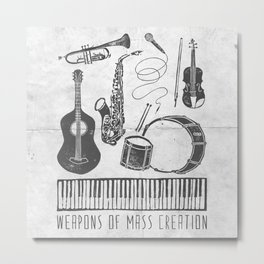 Weapons Of Mass Creation - Music (on paper) Metal Print