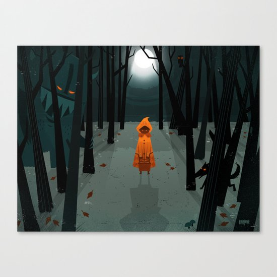 Woods Girl Canvas Print