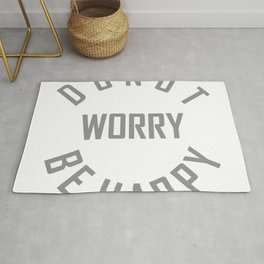 Donut worry be happy Rug
