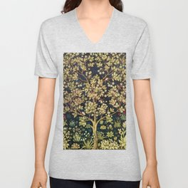 William Morris Tree Of Life Unisex V-Neck