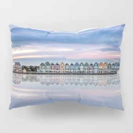 Rainbow houses in Netherlands Pillow Sham