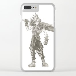 Cloud Strife Final Fantasy VII Clear iPhone Case